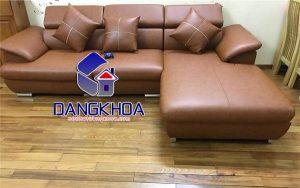 Ghế sofa giá rẻ Hà Nội chất liệu da cho phòng khách hiện đại